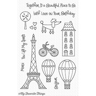 Happymade - My Favorite Things clear stamp set - In Paris (CS-265)